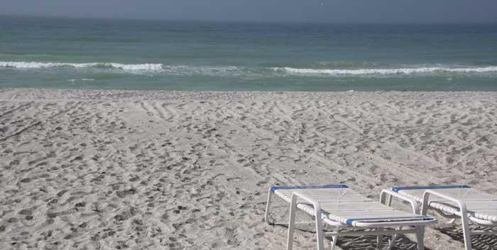 beach in front of turtle crawl inn resort